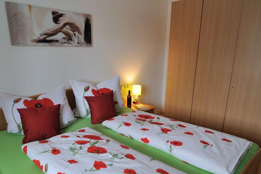 Schlafzimmer der Ferienwohnung Höss in Roßhaupten am Forggensee